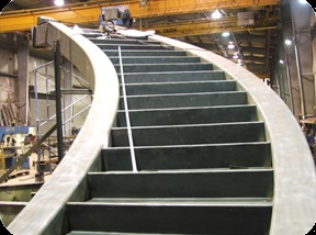 Çelik Döner Merdiven - Sac Yanaklı Merdiven